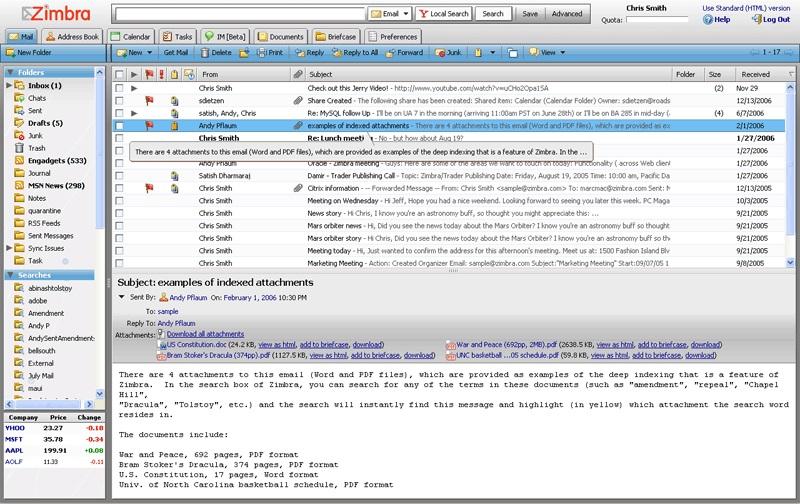 giao dien webmail zimbra